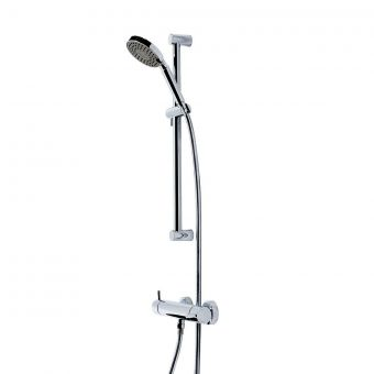 Tavistock Kinetic Exposed Thermostatic Shower Mixer with Single Handset Shower Kit