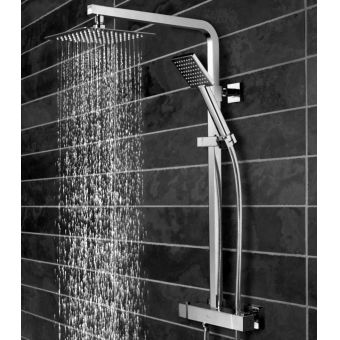 CHK Tavistock Index Exposed Thermostatic Shower Valve with Overhead Drench and Hand Shower
