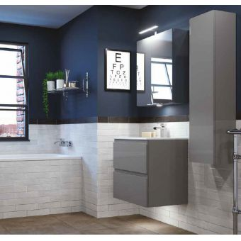 RAK Joy Tall Wall Hung Bathroom Cupboard