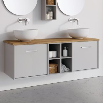 Crosswater Infinity 2 Drawer 1400mm Unit with Shelves