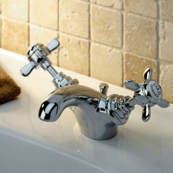 Tavistock Varsity Basin Mixer Tap with Pop Up Waste