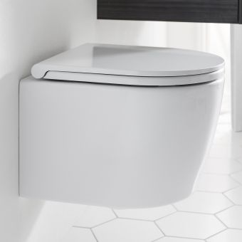 Crosswater Pier Wall Hung Compact Rimless WC - PI6116CW