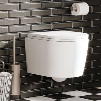 Crosswater Pier Wall Hung Compact WC - PI6006CW