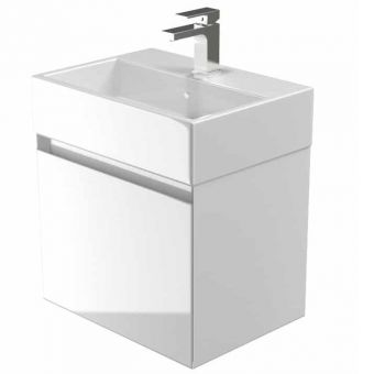 Saneux Podium Wall Mounted Vanity Unit with One Drawer