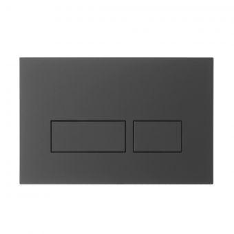 Crosswater MPRO Matt Black Flush Plate - PROFLUSHB