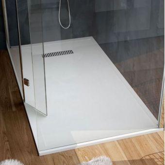 Saneux L25 Linear Stone Resin Rectangular Shower Tray