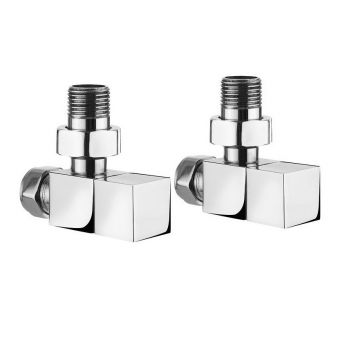 Crosswater Square Angled Manual Radiator Valve