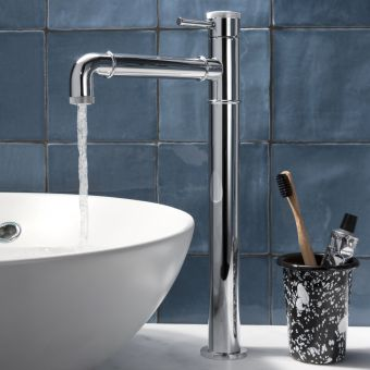 Crosswater MPRO Industrial Chrome Tall Basin Tap