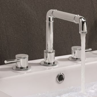 Crosswater MPRO Industrial Chrome 3 Hole Basin Tap