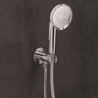 Crosswater MPRO Industrial Chrome Shower Handset Kit