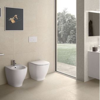 RAK Moon Back to Wall Rimless Toilet with Seat