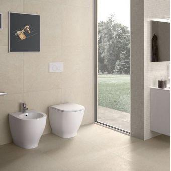 RAK Moon Back to Wall Rimless Toilet with Seat - MOONBTWPAN-R/SC