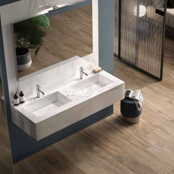 RAK Precious Wall Hung Double Wash Basin