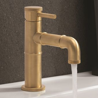 Crosswater MPRO Industrial Unlaquered Brass Basin Tap