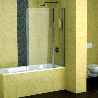 Showerlux Legacy 2 Panel Bath Screen