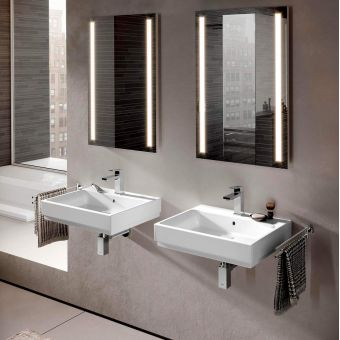 CHK Grohe Cube Ceramic Wall Hung Washbasin