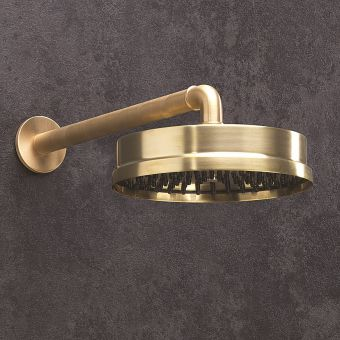 Crosswater MPRO Industrial Unlaquered Brass Shower Head