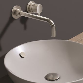 Crosswater MPRO Brushed Steel Overflow Cover - MPROOVV