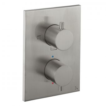 Crosswater MPRO Crossbox Brushed Steel Shower Valve