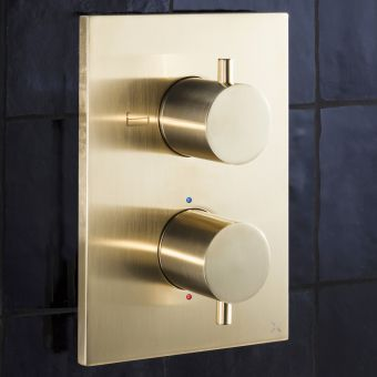 Crosswater MPRO Brushed Brass Crossbox