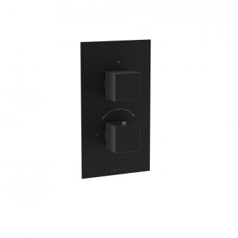 Saneux Tooga Matt Black Thermostatic Shower Valve