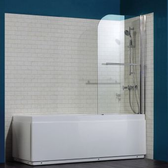 Saneux Agua Maison Radius-Shaped Bath Screen