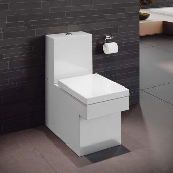 CHK Grohe Cube Ceramic Close Coupled Rimless Toilet