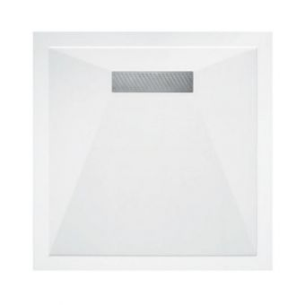 Saneux L25 Linear Stone Resin Square Shower Tray - L250909S