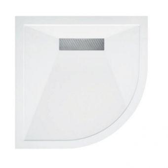 Saneux L25 Linear Stone Resin Quadrant Shower Tray - L250909Q