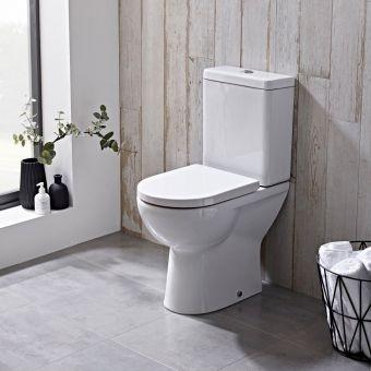 Tavistock Ion Open Back Close Coupled Toilet - P100S