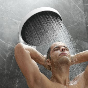 hansgrohe Rainfinity 360 1 Jet Shower Head With Wall Connector