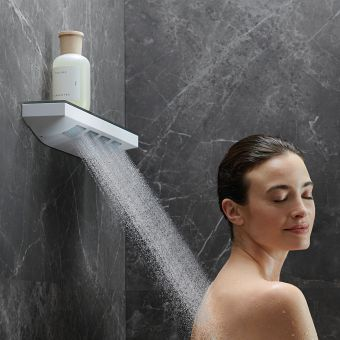 hansgrohe Rainfinity Shoulder Shower 500 I Jet with Shower Shelf
