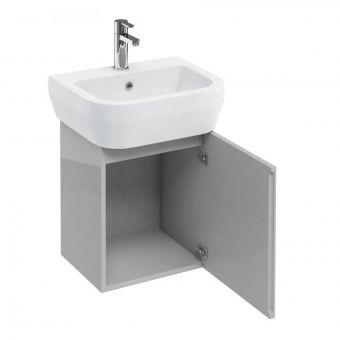 Britton Aquacube Compact Cloakroom Wall Hung Unit & Basin