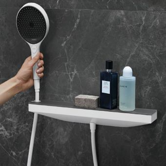 hansgrohe Rainfinity Wall Outlet with Holder and Shower Shelf - 26858000