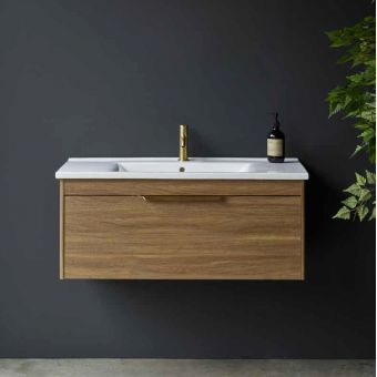 CHK Britton Shoreditch Wall Hung 1 Drawer Vanity Unit with Basin