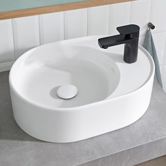 Villeroy and Boch Collaro Oblong Countertop Basin with Tapledge - 4A155101