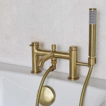 Britton Hoxton Bath Mixer Tap with Hand Shower