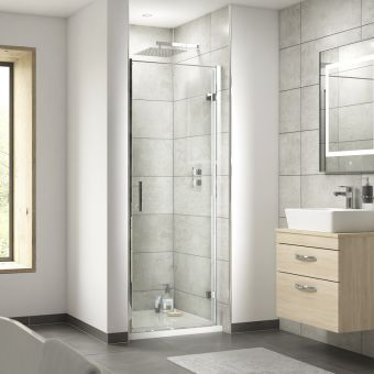 UK Bathrooms Essentials Hinged Shower Door