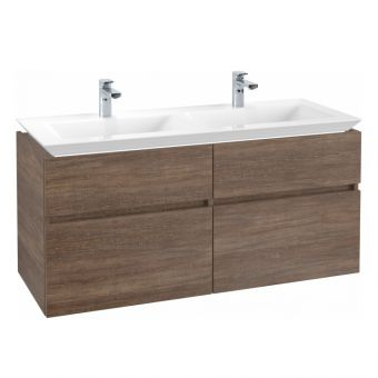 Villeroy and Boch Legato XL Twin 4 Drawer Vanity