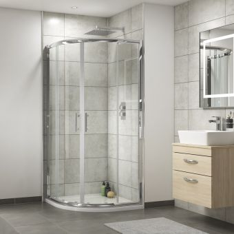 UK Bathrooms Essentials Quadrant Shower Door