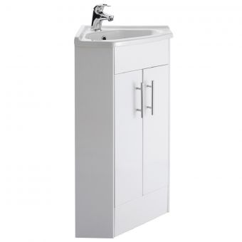 UK Bathroom Essentials Newby Corner Vanity Unit