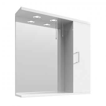 UK Bathrooms Essentials Newby Medium Illuminated Mirrored Cabinet