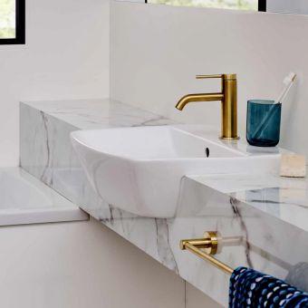Britton MyHome Semi-recessed Washbasin - MY50SCT1THW