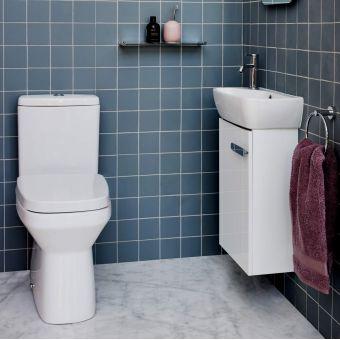 Britton MyHome Wall Hung Cloakroom Unit and Basin - MYSPBSN1THW