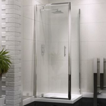 UK Bathrooms Essentials Pivot Shower Door