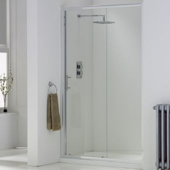UK Bathrooms Essentials Single Sliding Shower Door