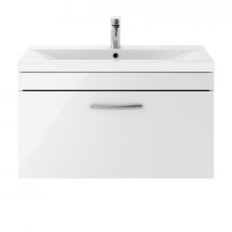 UK Bathroom Essentials Markenfield 800mm Wall Hung Vanity Unit With Basin
