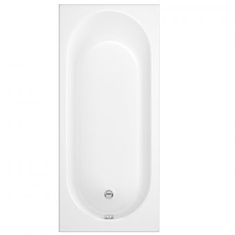 UK Bathrooms Essentials Rose Single Ended Bath