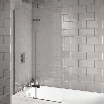 UK Bathrooms Essentials Inswing Bath Screen