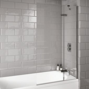 UK Bathrooms Essentials Extended Bath Screen